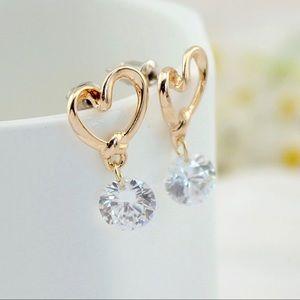 ❤️ New Trendy Minimalist Earrings Stud Crystal
